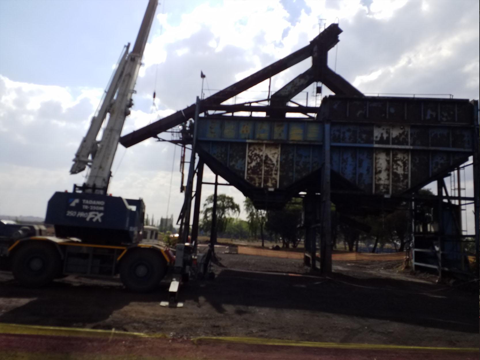 Sasol Bin Demolition Photo